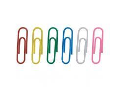 Скрепки BUROMAX 28мм, colored, rounded 100 шт (BM.5015)