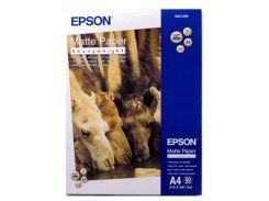 Папір EPSON A4 Matte Paper-Heavyweight (C13S041256) струменевий, білий, 167 г/м2, матовий, 50