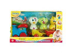 Музична іграшка BeBeLino Паровозик с животными (57077-1)