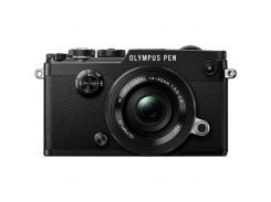 Цифровой фотоаппарат OLYMPUS PEN-F Pancake Zoom 14-42 Kit black/black (V204061BE000)