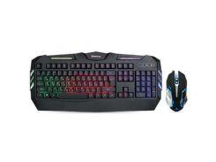 Комплект REAL-EL Gaming 9500 Kit Backlit, black з підсвіткою, ігровий, провідний, USB, повнорозмірна