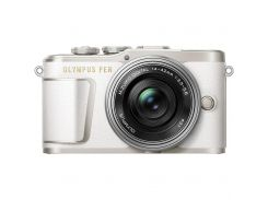 Цифровий фотоапарат OLYMPUS E-PL9 14-42 mm Pancake Zoom Kit white/silver (V205092WE000) КМОП (CMOS),