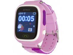 """Смарт-годинник ATRIX SW iQ400 Touch GPS Pink 1.22"""", Android 4.3, iOS 8, 2 доби, 40 г, рожевий"""