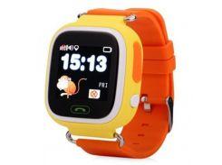 """Смарт-годинник ATRIX SW iQ400 Touch GPS Yellow 1.22"""", Android 4.3, iOS 8, 2 доби, 40 г, жовтий"""