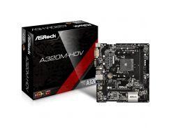 Материнська плата ASRock A320M-HDV Micro-ATX, Socket AM4, AMD A-series, AMD, AMD A320, DDR4, 32 GB,