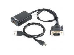 Перехідник VGA to HDMI Cablexpert (A-VGA-HDMI-01)