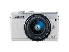 Цифровий фотоапарат Canon EOS M100 15-45 IS STM Kit White (2210C048) КМОП (CMOS), 22.3 х 14.9 мм, 24