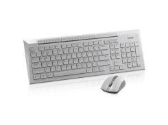 Комплект Rapoo 8200p wireless, White бездротовий, мультимедійний, радіо, повнорозмірна, оптичний, 10