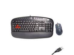 Комплект A4tech KX-2810BK/R ігровий, провідний, USB, повнорозмірна, оптичний, 2000 dpi, Black