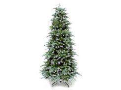 Штучна ялинка Triumph Tree Deluxe Slim Abies Nordmann зеленая с инеем 1,85 м (8712799279667)