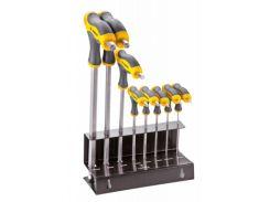Набір інструментів Topex ключей шестигранных тип Т 2-10 мм, 9 шт. (35D963)