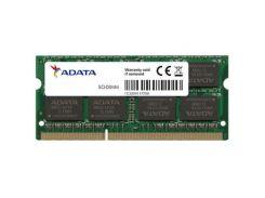 """Модуль пам""""яті для ноутбука SoDIMM DDR3 8GB 1600 MHz ADATA (AD3S1600W8G11-S) DDR3, 8 GB, 1, 1600 МГц"""