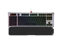 Клавіатура A4tech Bloody B845R Gun Black механічна, USB, чорний/сріблястий
