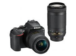 Цифровий фотоапарат Nikon D5600 AF-P 18-55 VR + AF-P 70-300 VR Kit (VBA500K004) КМОП (CMOS), 23.5 х