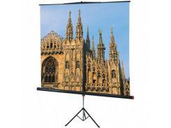 Проекційний екран 1120 Sopar на стійці, пряма, мобільний, 125 см, 125 см, 1:1, Snow White