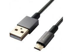 Дата кабель Grand-X USB - Micro USB, Cu, 2.1A, металл. оплетка, 1m (MM-01)