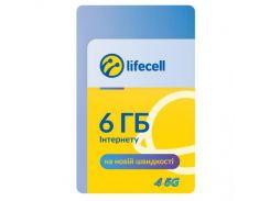 Карточка пополнения счета lifecell 6Gb Інтернет L (4820158950899)