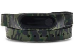 UWatch Replaceable Long Winding Circle Camouflage Style Wristband for MiBand 2 Camo Green