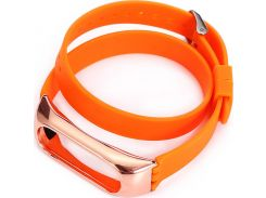 UWatch PE Bracelet Replacement Double Circle Silicone Wristband For Mi Band 2 Orange