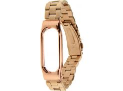 UWatch Metal Strap With Frame For Xiaomi Mi Band Rose Gold