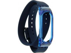 UWatch PE Bracelet Replacement Double Circle Silicone Wristband For Mi Band 2 Blue