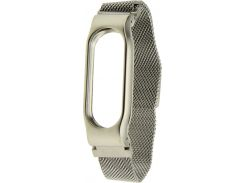 UWatch Magnetic Stainless Steel Bracelet Wrist Strap For Miband 2 Silver