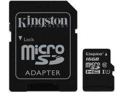 Kingston microSDHC/microSDXC class 10 UHS-I SD adapter 16Gb