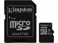 Kingston microSDHC/microSDXC class 10 UHS-I SD adapter 32Gb