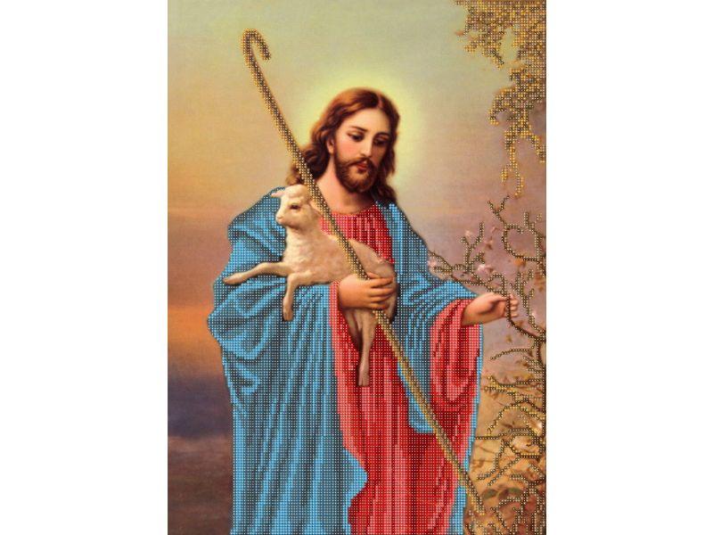 b11e3f5b823b56 Схема для вышивки бисером Иисус.Добрый Пастырь купить недорого за 60 ...