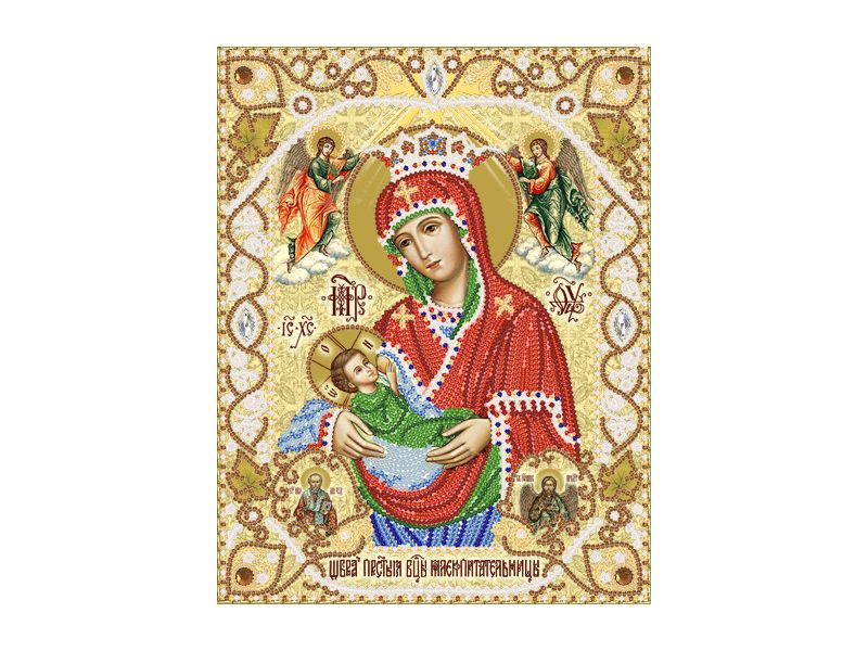 dc3ec3307affcb Ткань с рисунком для вышивания бисером Образ Пресвятой Богородицы  Млекопитательница Харьков