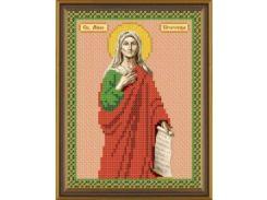 Рисунок на ткани для вышивания бисером Св. Анна Пророчица БИС 5105