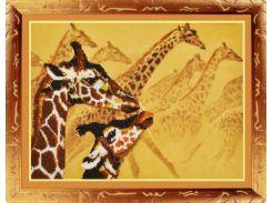 """Набор для вышивания бисером """"Жирафы""""  P-051"""