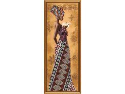 Набор для вышивания бисером Африканка с лилией НД 2077