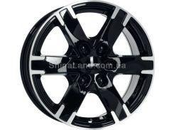 Литые диски Alutec Titan 7.50x17/6x139.7 D84.1 ET55 (Diamond-black front polished)