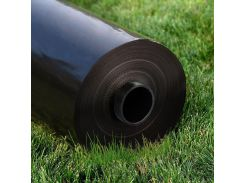 Пленка черная 80мкм, 3м/100м. Строительная, полиэтиленовая