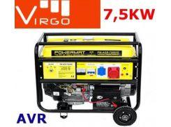 Генератор Virgo 7.5 кВт, трехфазный, электростарт, бензиновый