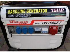 Генератор Stronger power TW7600ST 3.8 кВа трехфазный, электростарт, бензиновый