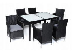 Комплект садовой мебели стол + 6 кресел TECHNORATAN