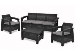 Садовая мебель CORFU SET MAX GRAFIT