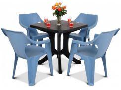 Мебель для террасы NAPOLI PINK SET, светло-синий
