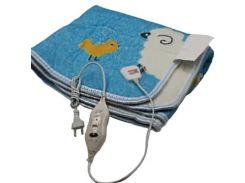 Электропростынь Electric blanket 150*120 с сумкой, голубая