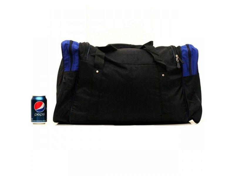 8303e6e58bff 437-1 Киев Черная дорожная сумка с синими вставками Wallaby арт. 437-1 Киев