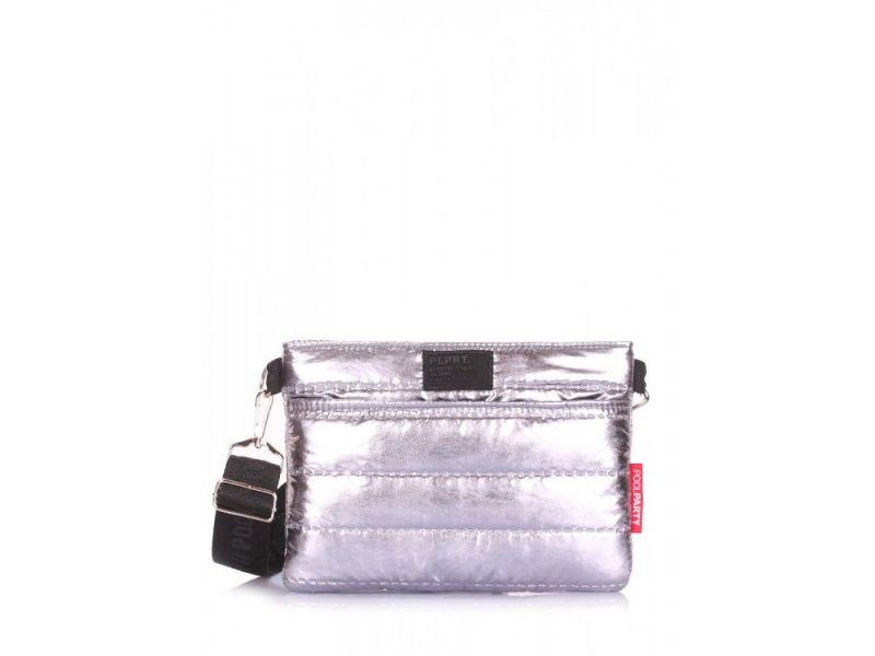 8e40d5461c60 Стеганая сумка Puffer на пояс/на плечо Poolparty арт. puffer-silver Киев ...