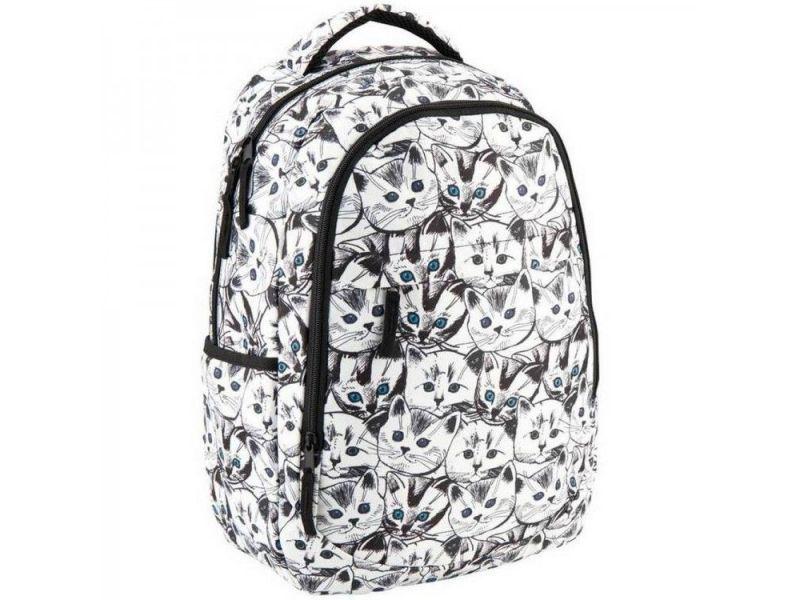 da86af316617 Чёрно белый рюкзак с котами GoPack арт. GO18-131M-4 купить недорого ...
