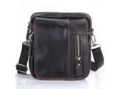 Компактная кожаная сумка черного цвета  Traum арт. 7172-11