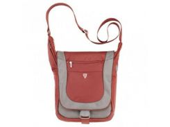 Добротная сумка с полиэстера красно-серого цвета  Sumdex арт. PJA-643PR