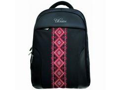 """Рюкзак деловой с отделом для ноутбука 18 дюймов """"Vyshyvanka Red"""" Optima арт. O97361"""
