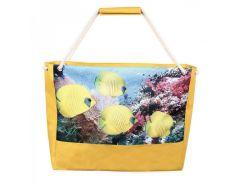 Яркая сумка для пляжа с рыбками лимон XYZ арт. PL2201