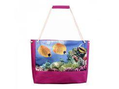 Яркая пляжная сумка с рыбками XYZ арт. PL2221