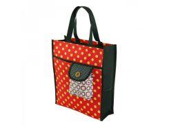 Легкая сумка-шоппер в горошек Traum арт. 7011-40